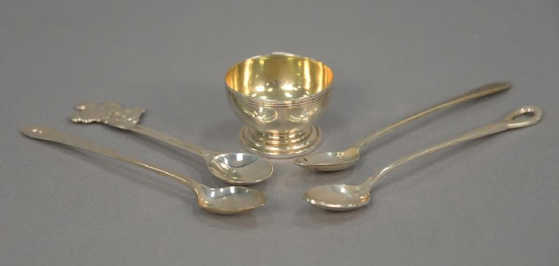 Tiffany sterling silver group to include pair of