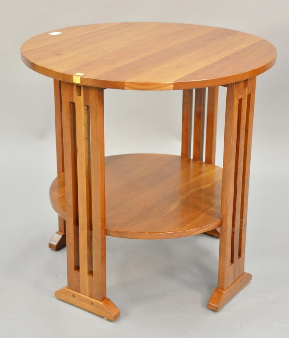 Stickley Cherry Round Table. Ht. 29in., Dia. 29in.