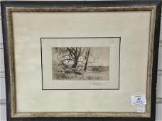 Two framed pieces to include Stow Wengenroth,