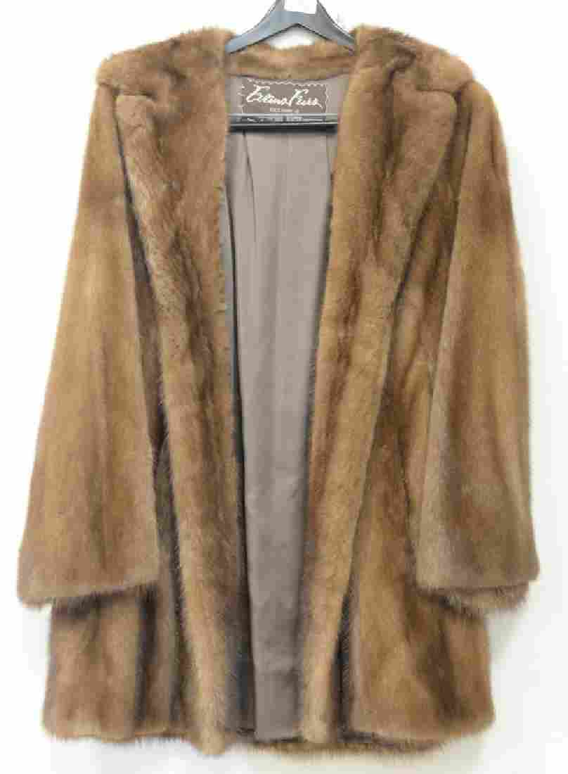 Two womans mink coats including Evans Fur short mink
