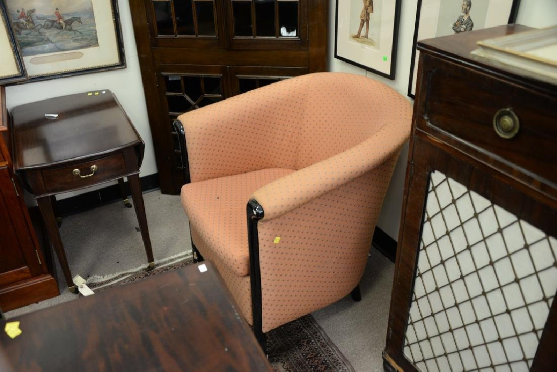 Pair upholstered club chairs. - 3