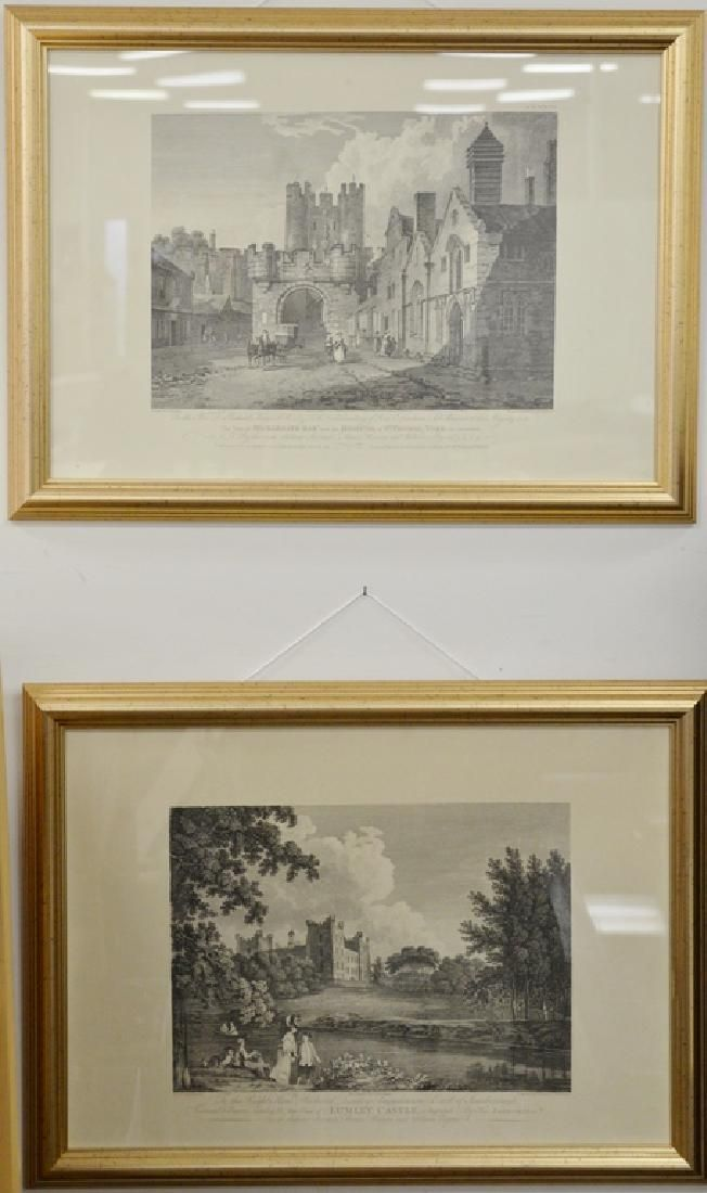 Group of eleven framed pieces to include a group of six
