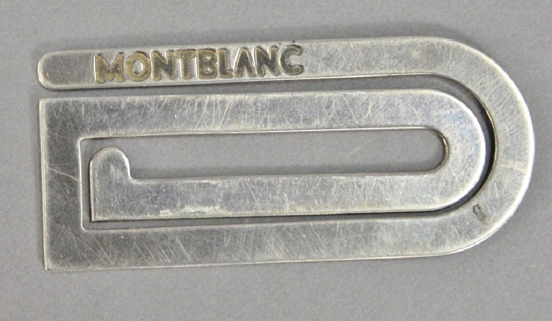 Montblanc sterling silver money clip made in Italy,