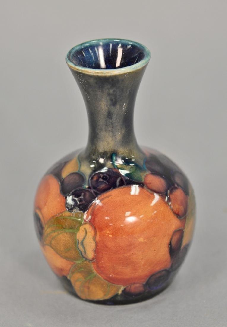 Moorcroft English pottery bud vase with original paper