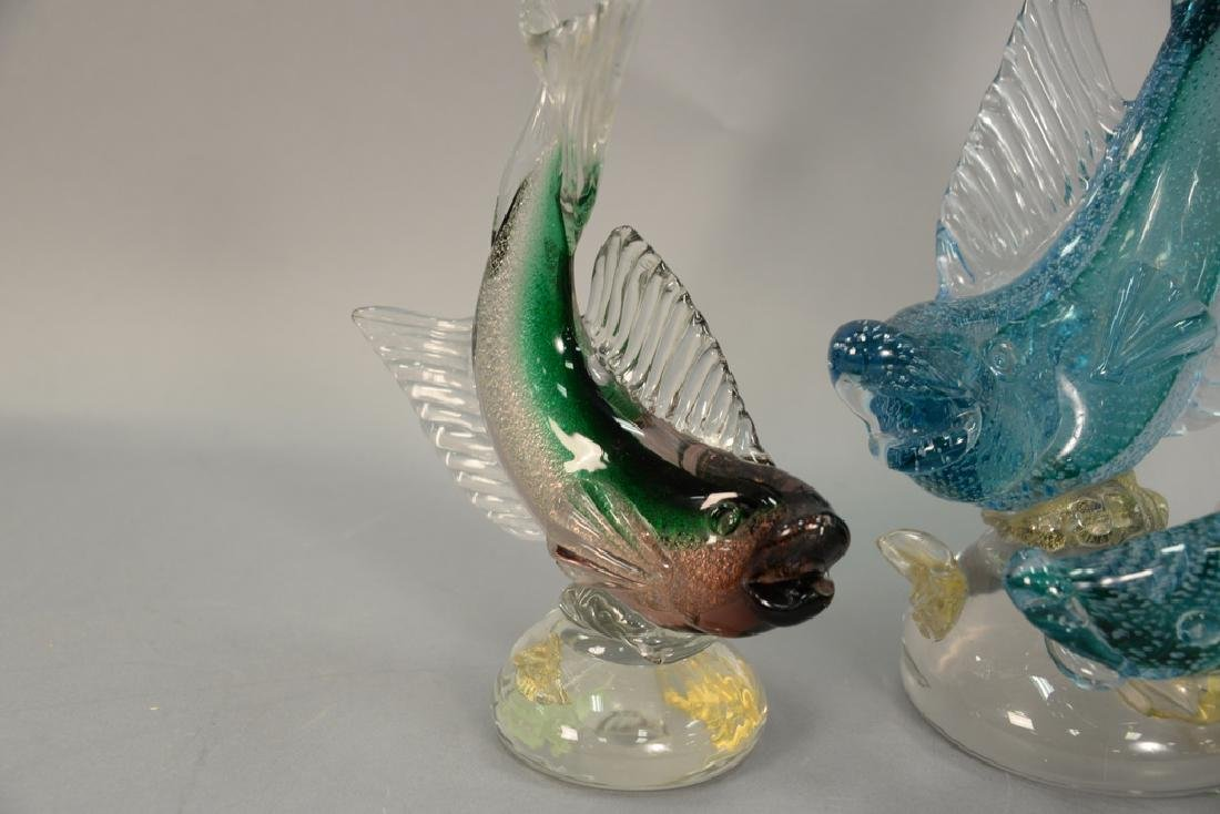 Two large Murano fish including a double Alfredo - 2