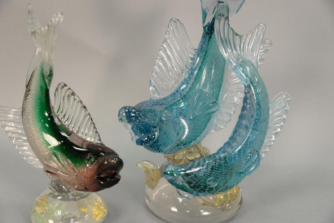 Two large Murano fish including a double Alfredo - 3