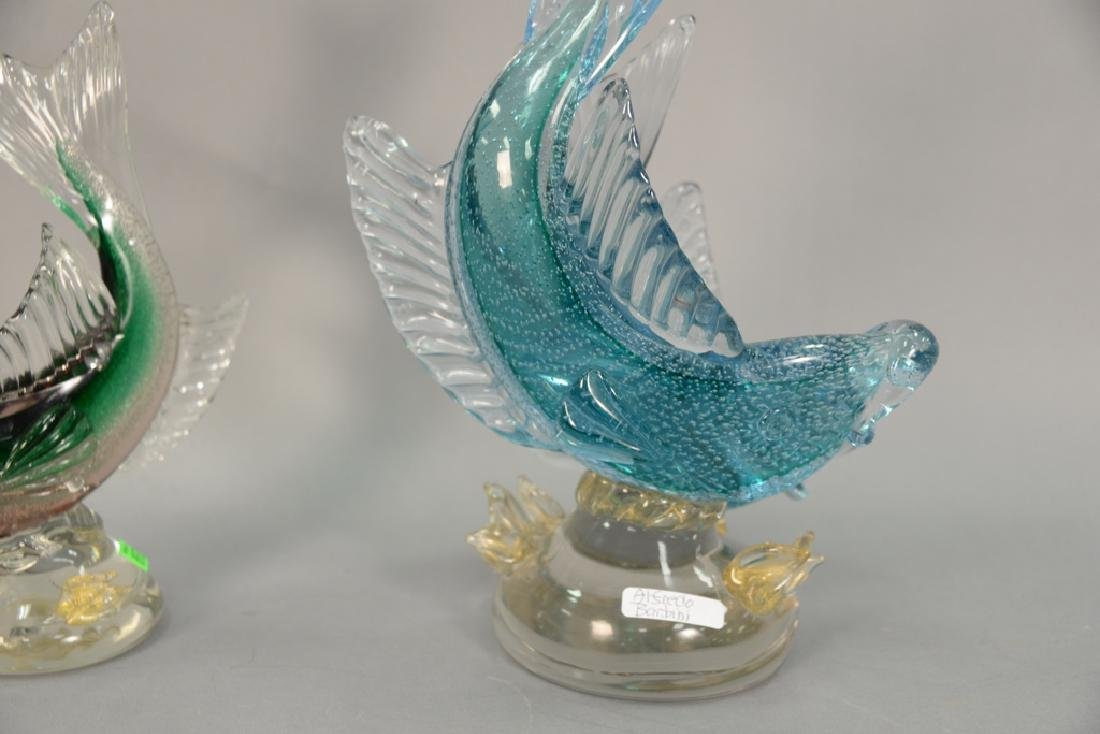 Two large Murano fish including a double Alfredo - 7