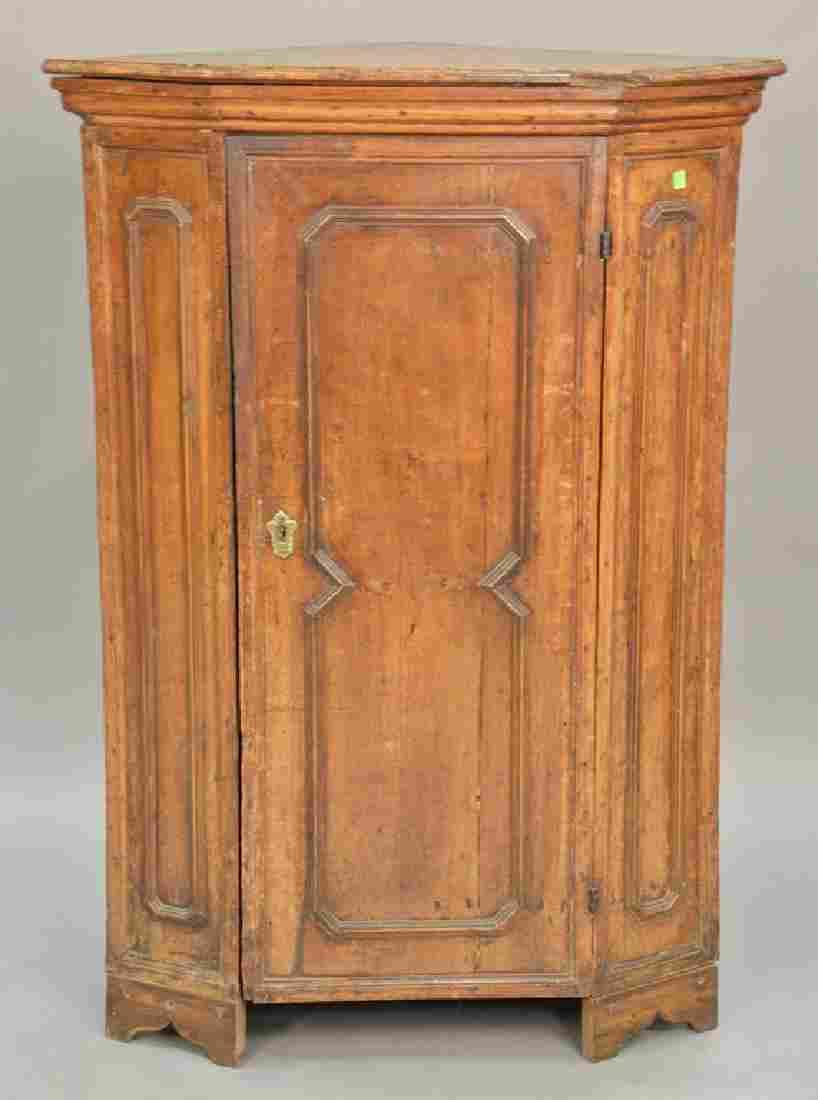 Continental corner cupboard top, probably 18th century