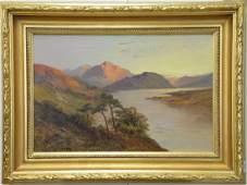 "Francis E. Jamieson (1895-1950), oil on canvas, ""Loch"