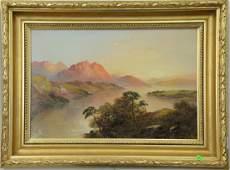 Francis E Jamieson (1895-1950), oil on canvas, Sunset
