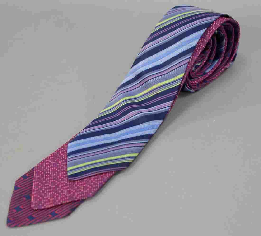 Assorted group of three Hermes silk ties