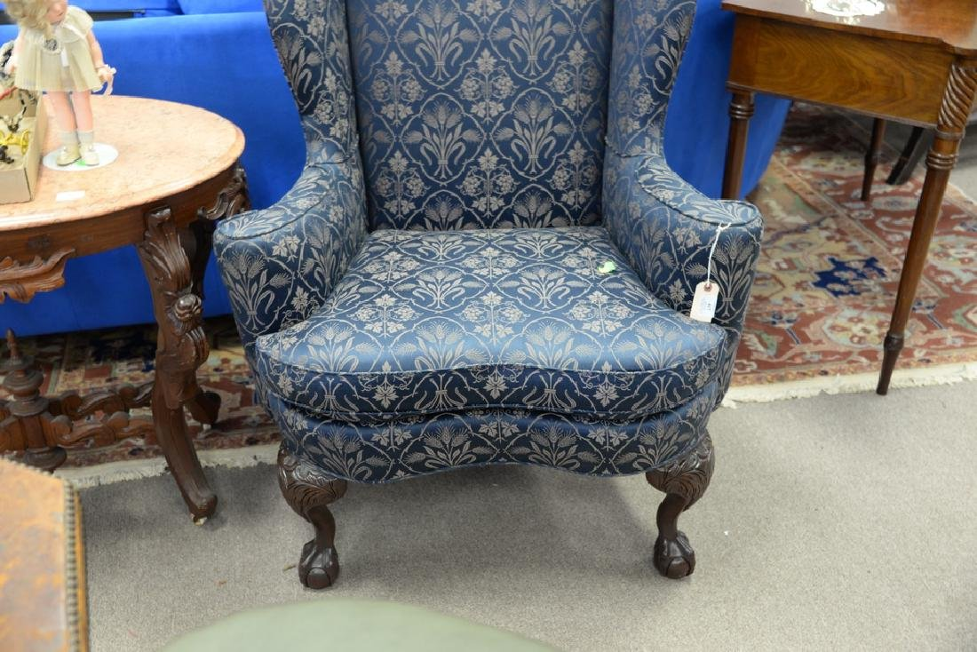 Sherril Chippendale style wing chair with ball and claw - 3