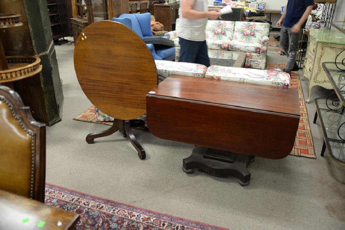 Two tables including an Empire drop leaf table and a - 2