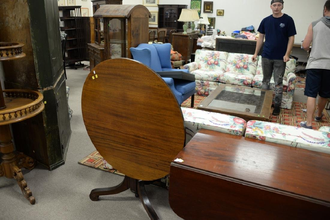 Two tables including an Empire drop leaf table and a - 3