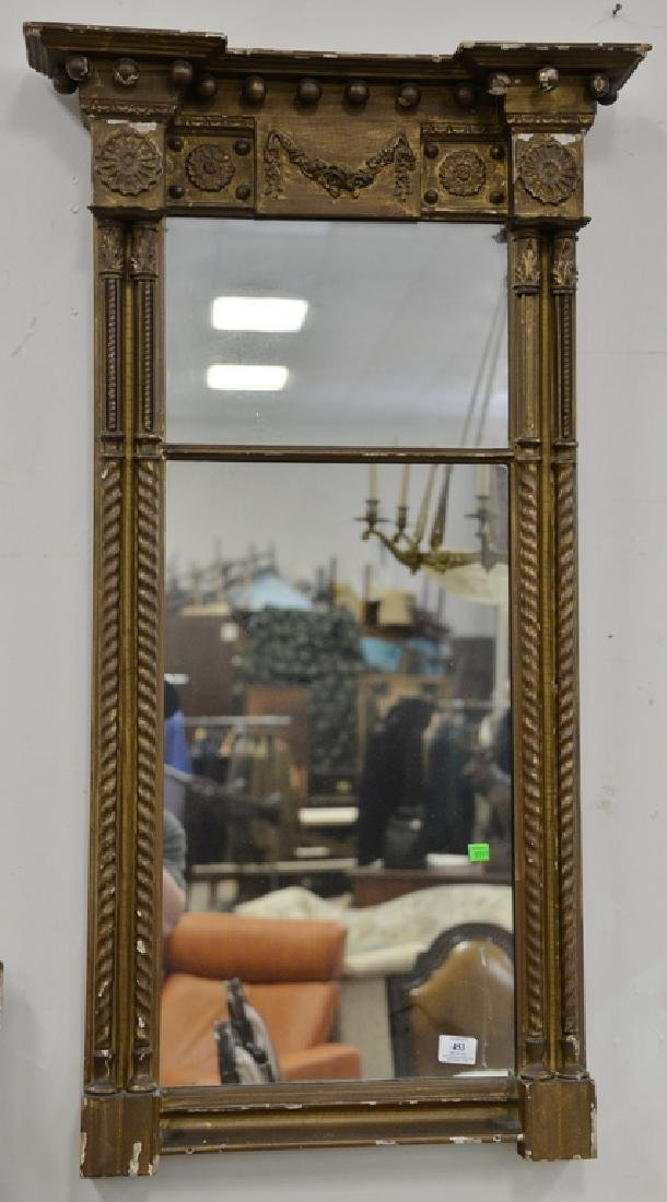 Three large framed mirrors to include large rectangle