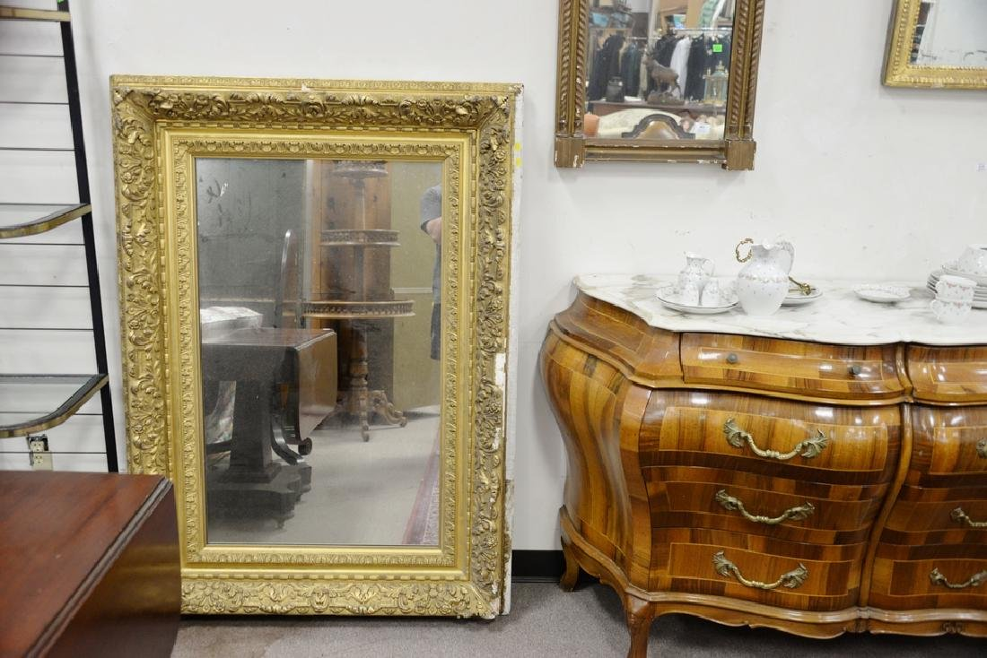 Three large framed mirrors to include large rectangle - 3