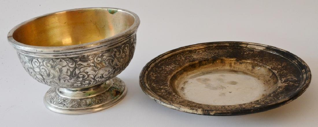 Black Starr and Frost silver footed bowl  and