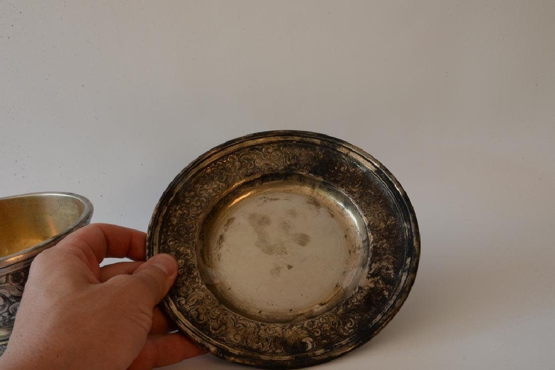 Black Starr and Frost silver footed bowl  and - 5