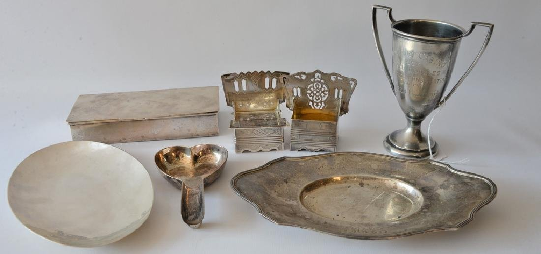 Sterling silver lot to include rectangle box, Newport
