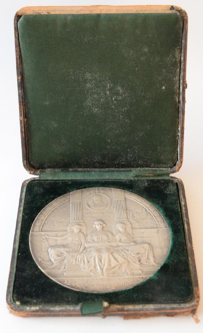 Hudson Fulton celebration 1909 silver medallion 1st use