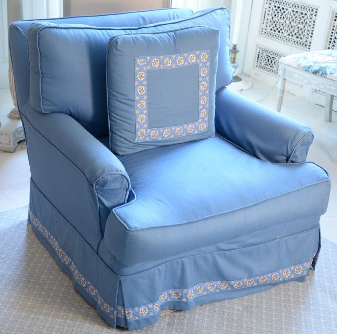 Large group including pair of lamps, blue club chair, - 4