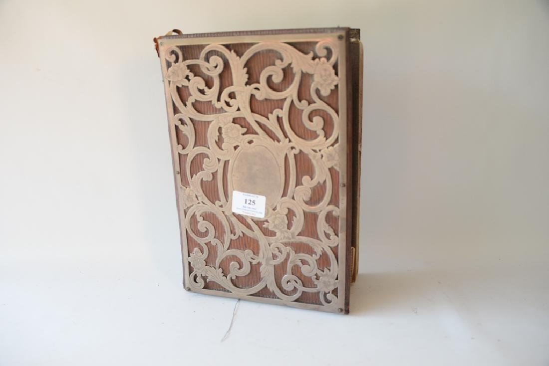 Leather book mounted with sterling silver. - 2