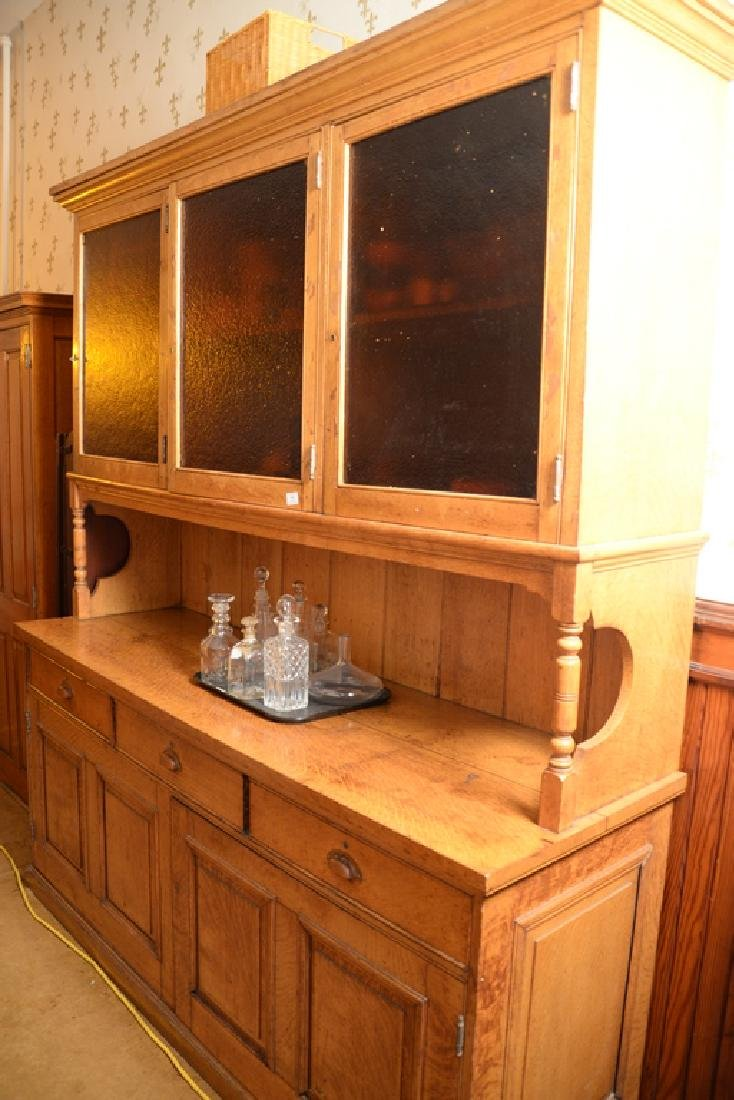 Large oak sideboard with three door top.  height 90