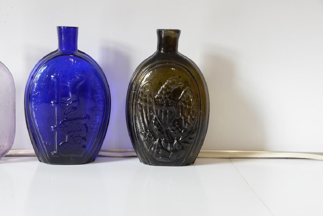 Group of five flasks cornucopia eagle flask, three repr - 2