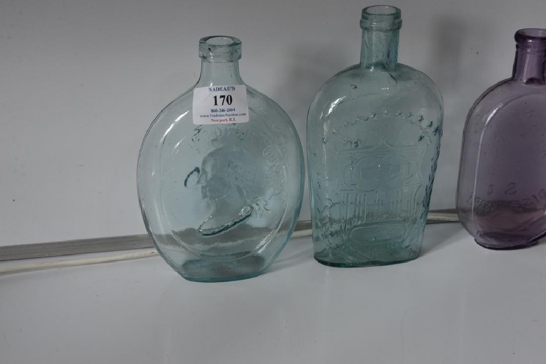 Group of five flasks cornucopia eagle flask, three repr - 3