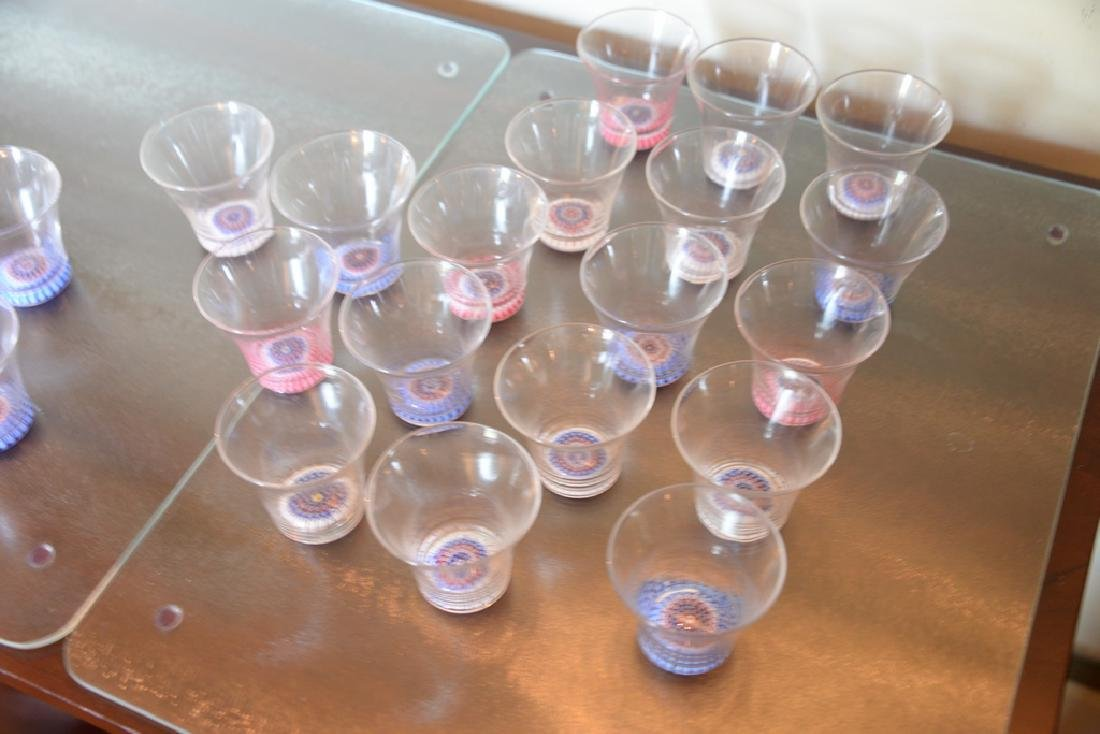 Forty-one piece millefiori cocktail crystal set having - 3