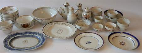 Large group of Chinese export to include cups and