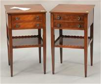 Pair of mahogany Beacon Hill two drawer stands ht 28