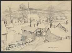 Emile Albert Gruppe (1896-1978), pencil on paper,
