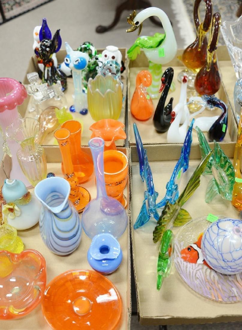 Four box lots of Murano art glass to include Murano art