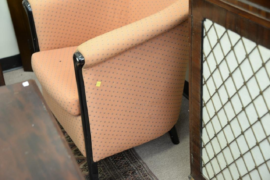 Pair upholstered club chairs. - 5