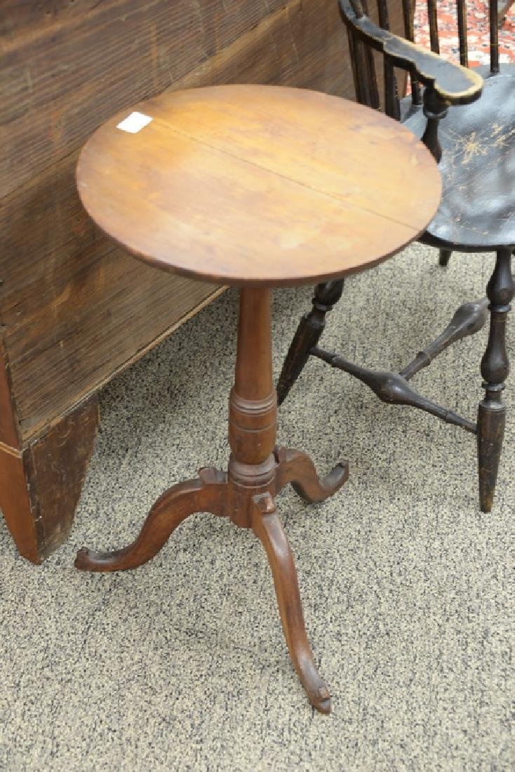 Cherry candle stand having round top on turned shaft - 2