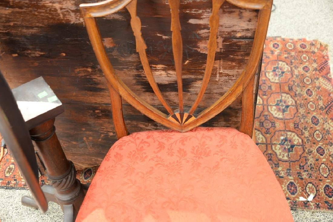 Federal mahogany side chair with shield back and inlay - 3