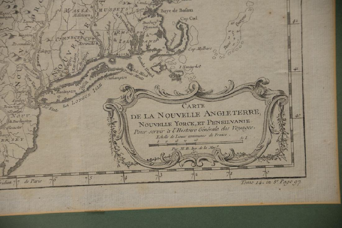 "Two early framed engraved maps including ""Carte de la - 3"