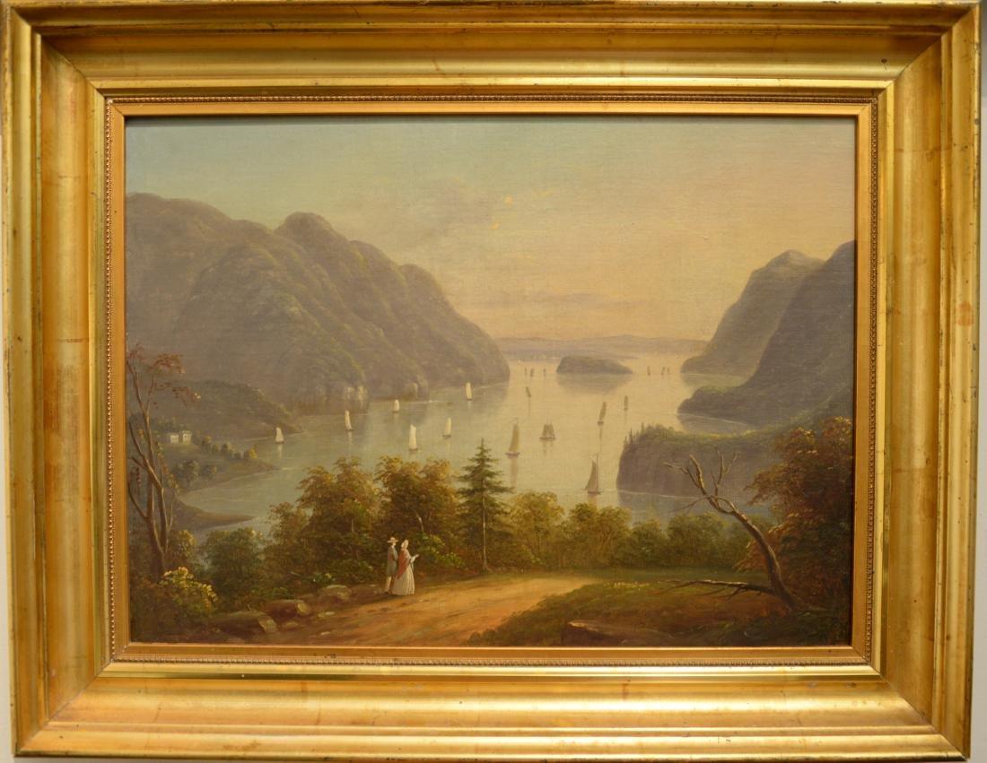 Hudson River Valley Landscape, oil on canvas, unsigned,
