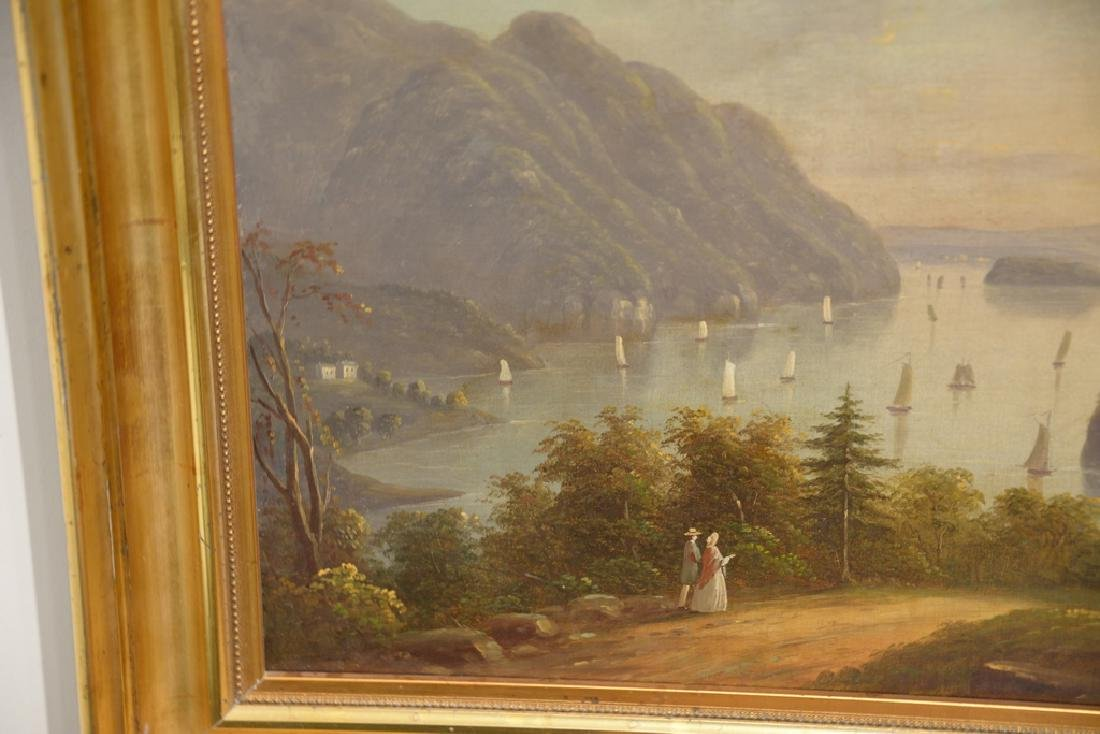 Hudson River Valley Landscape, oil on canvas, unsigned, - 2
