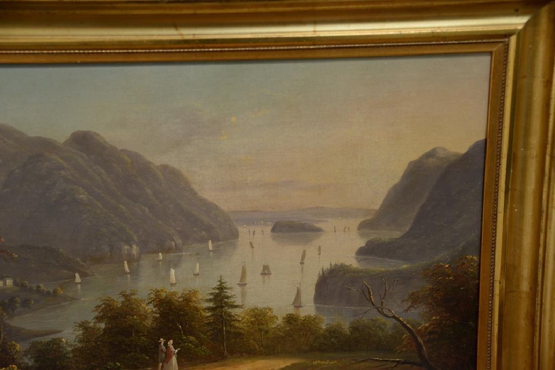 Hudson River Valley Landscape, oil on canvas, unsigned, - 3