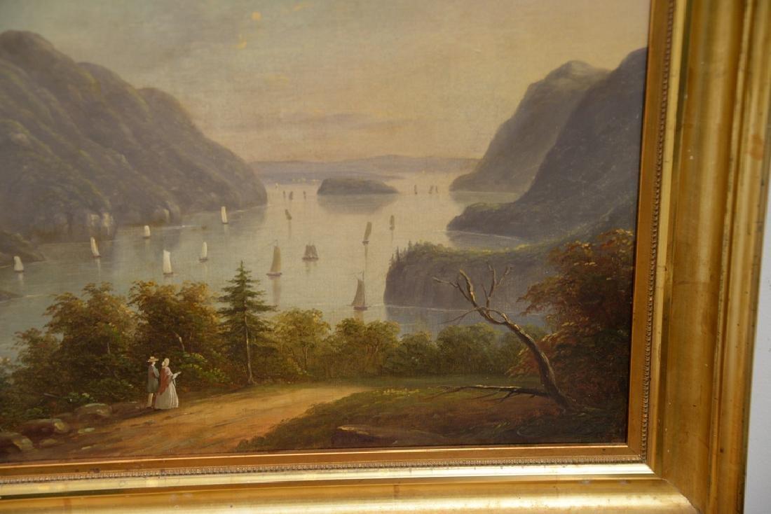 Hudson River Valley Landscape, oil on canvas, unsigned, - 4