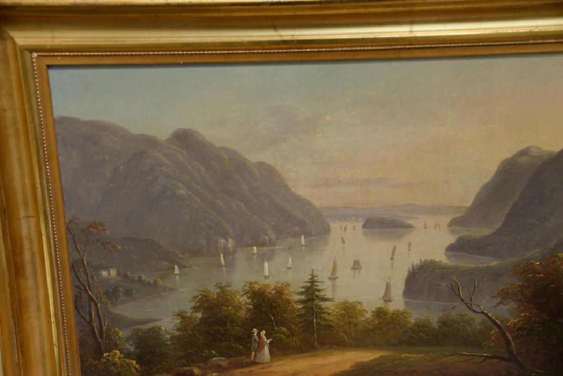Hudson River Valley Landscape, oil on canvas, unsigned, - 5