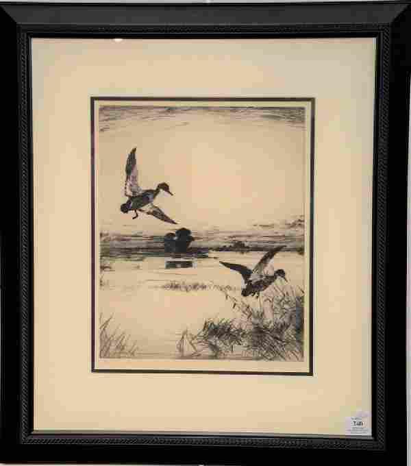 "Frank Weston Benson (1862-1951), etching, ""Two Black"