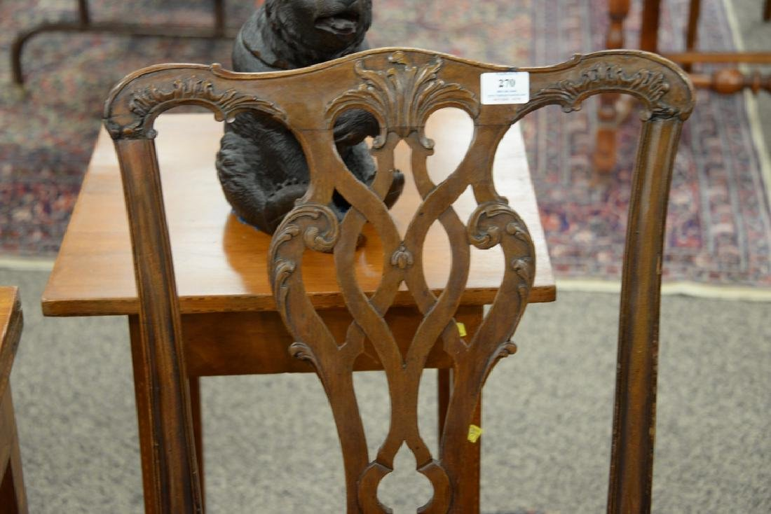 Pair of George II mahogany side chairs, England - 4