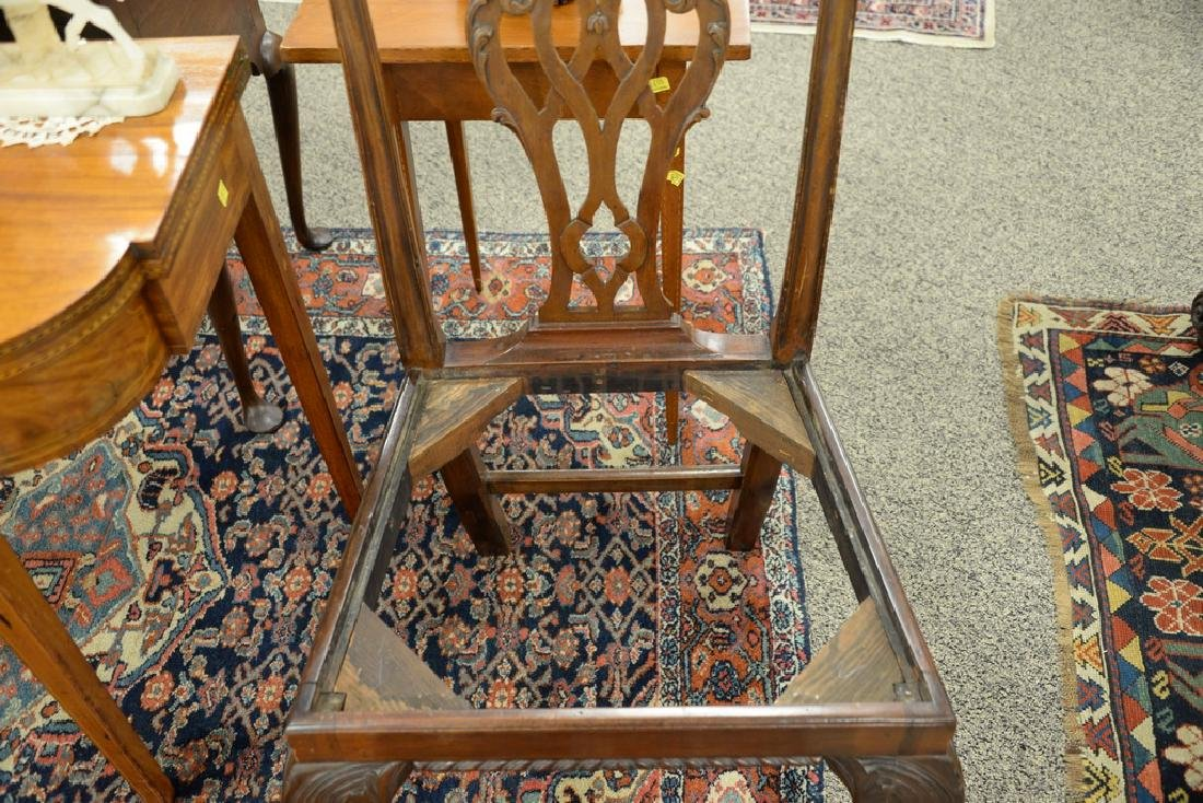 Pair of George II mahogany side chairs, England - 6