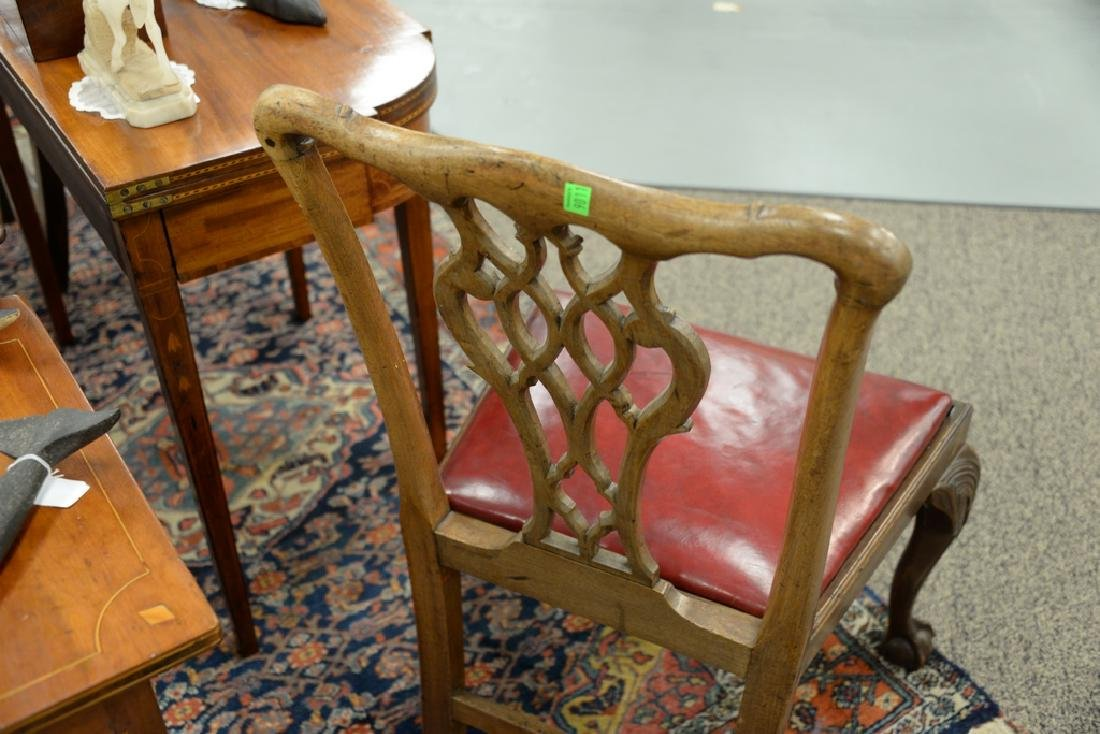 Pair of George II mahogany side chairs, England - 7