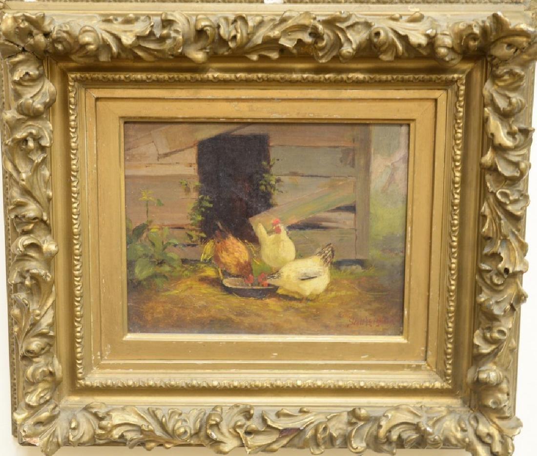 Scott Leighton (1849-1898),  oil on canvas,  Barnyard