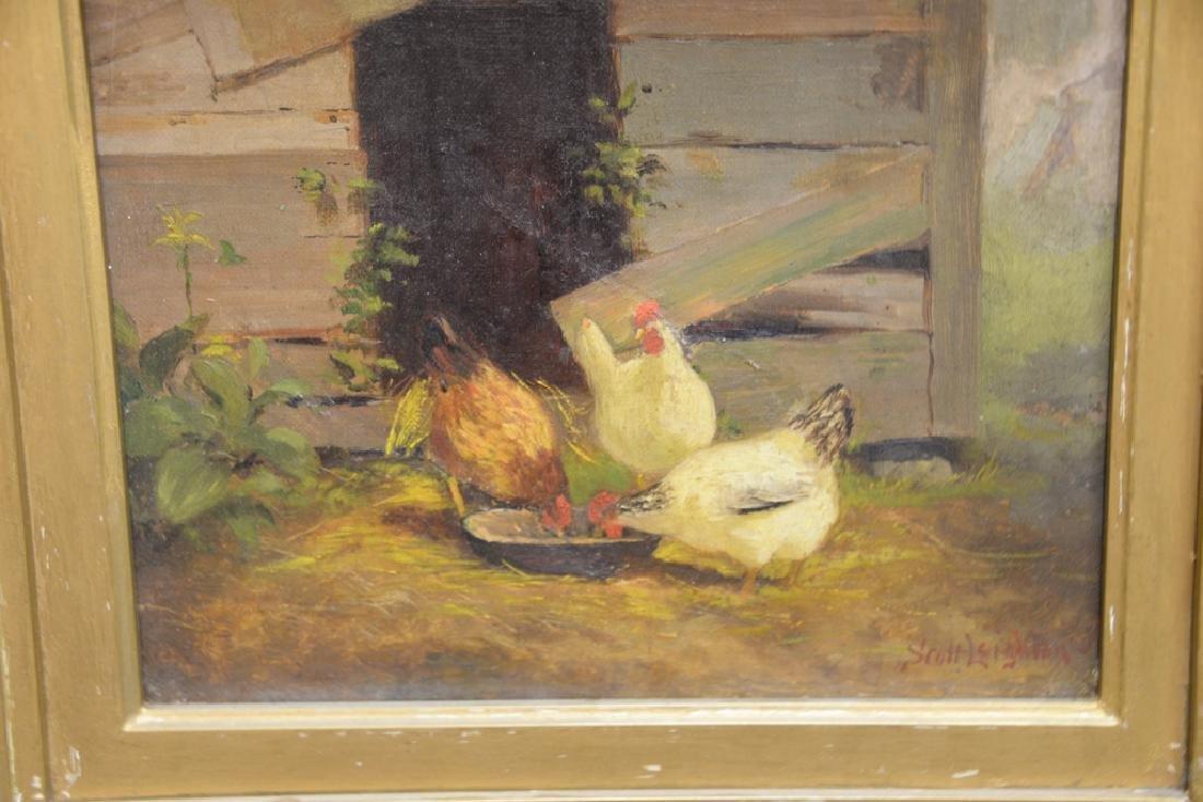Scott Leighton (1849-1898),  oil on canvas,  Barnyard - 2