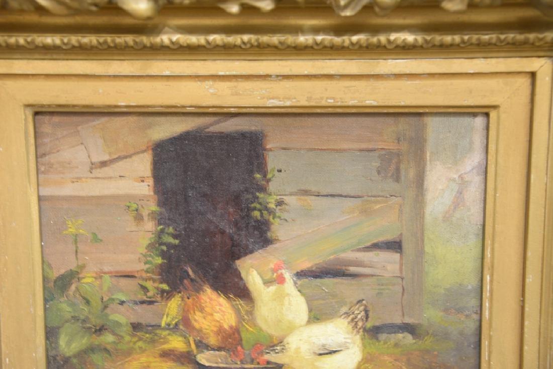 Scott Leighton (1849-1898),  oil on canvas,  Barnyard - 3